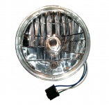 Scheinwerfereinsatz H4 klarglas komplett mit Standlicht - mit E-Prüfzeichen