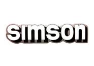 """Aufkleber / Schriftzug """"simson"""" für Tank, weiß/schwarz/silber"""