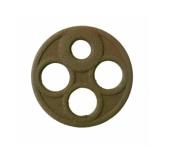 Dichtung für Benzinhahn (DDR, EHR) , 4-Loch groß (Ø=17,7mm), Originalform - KR