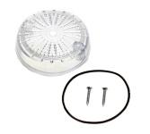 Blinkerkappe für Blinker rund - hinten, weisses Glas, 8580.23-002/1 - inkl. Gummidichtring + Schrauben