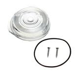 Blinkerkappe für Blinker rund - vorne, weisses Glas, 8580.23-001/1- inkl. Gummidichtring + Schrauben