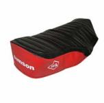 Sitzbezug SIMSON - schwarz/ rot, strukturiert, wasserdicht