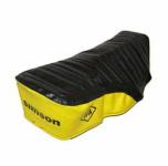 Sitzbezug SIMSON - schwarz/gelb, strukturiert, wasserdicht