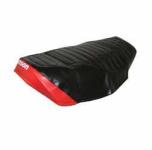Sitzbezug SIMSON - schwarz/rot, strukturiert, wasserdicht - SR50
