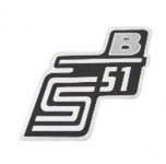 """Aufkleber / Schriftzug """"S51 B"""" für Seitendeckel, B=silber"""