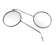 Rückblickspiegel - Set 2 Stück - ø 125 mm - Gewinde M8, verchromter Spiegelarm, Muschelform - links u. rechts verwendbar