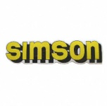 """Aufkleber / Schriftzug """"simson"""" für Tank, gelb"""