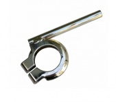 Blinkerhalter vorderer - verchromt - links und rechts verwendbar, ø 10 mm  - (mit M8 Innengewinde für Mini-Blinker)