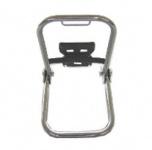 Gepäckträger - chrom (mit langem Stützbügel + Schutzblechhalter)