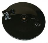 Bremsschild hinten - schwarz glänzend lackiert - ohne Loch für Bremskontakt - ohne Aufnahme für Bowdenzug