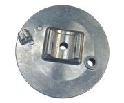 Bremsschild vorn - glasperlengestrahlt - mit Bolzen