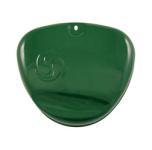 Deckel zum Ansaugkasten (Seitendeckel) Billardgrün - mit Wirbellogo, Enduro