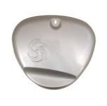 Deckel zum Ansaugkasten (Seitendeckel) Silber - mit Wirbellogo, Enduro