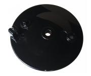 Bremsschild hinten - schwarz glänzend lackiert - ohne Loch für Bremskontakt - mit Aufnahme für Bowdenzug