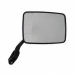 Rückblickspiegel, rechts, eckig, groß, schwarz, Kunststoffarm, Klemmschellenbefestigung -  KR51 Schwalbe