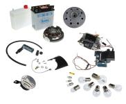 S50, S51, S70 Umrüstsatz Vape auf 12V mit Batterie ( inkl. Säurepack), Hupe und Kugellampen - Magnete verklebt und vergossen