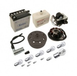 SR50, SR80 Umrüstsatz Vape auf 12V - mit Batterie (inkl. Säurepack) und Kugellampen