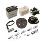 SR50, SR80 Umrüstsatz Vape auf 12V - mit Batterie (inkl. Säurepack) und Kugellampen - Magnete vergossen