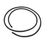 Köder/ Keder für Frontschild und Locheinfassung, schwarz, 1,10 m