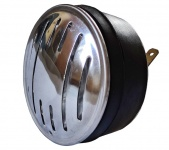 Hupe (Signalhorn) für Gleichstrom 6V und 12V - EDELSTAHLBLENDE