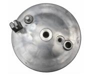 Bremsschild hinten - natur - mit Loch für Bremskontakt - mit Aufnahme für Bowdenzug