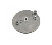 Bremsschild hinten - für außenliegenden Bremshebel - mit Loch für Bremskontakt und Bolzen