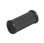 Kickstarter- und Fußschalthebelgummi schwarz, längsgerippt - für Schalthebel runde Ausführung