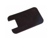 Isolierunterlage, Gummi, schwarz, 1 mm dick - für Blink- und Abblendschalter