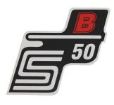 """Aufkleber / Schriftzug """"S50 B"""" für Seitendeckel, B=rot"""