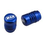 Ventilkappe (2 Stück) Alu blau eloxiert - MZA-Design-Kappe, incl. O-Ringe/Dichtungen
