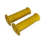 Griffgummi SET - Waffelmuster - Festgriff- und Gasdrehgriffgummi - gelb