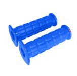 Griffgummi SET - Waffelmuster - Festgriff- und Gasdrehgriffgummi - blau