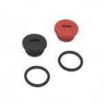 Set Verschlußschraube - rot und schwarz - inkl. 2x O-Ring