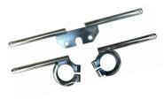 SET Blinkerhalter vorn/hinten verzinkt - geriffelte Enden