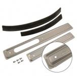 Set Scheuerleisten - rechts / links - Aluminium - mit Köder und Nieten