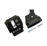 Gehäusehälften für Schalterkombination, Kupplung - mit Klemmschrauben - ohne Schalter und Kabel
