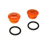 Set Verschlußschraube - Alu orange mit O-Ringen