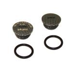 Set Verschlußschraube - Alu carbon mit O-Ringen