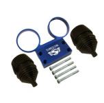 SET Armaturenträger mit Anbauteilen und Manschetten für Rundinstrumente ø 60 mm Tacho + DZM - Alu blau - SIMSON Logo erhaben