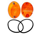 Set Blinkerkappen 8580.26, orange, inkl. Gummidichtungen und Schrauben