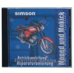 CD, SIMSON Moped und Mokick ORIGINALDOKUMENTE