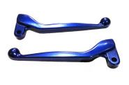 Handhebel SET SIMSON, ALU-massiv, Bremshebel + Kupplungshebel (auch für Ausführung mit Bremslichtschalter) , Farbe blau glänzend
