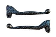 Handhebel SET SIMSON, ALU-massiv, Bremshebel + Kupplungshebel (auch für Ausführung mit Bremslichtschalter), Farbe carbon