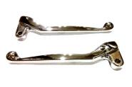 Handhebel SET SIMSON, ALU-massiv, Bremshebel + Kupplungshebel (auch für Ausführung mit Bremslichtschalter), verchromt hochglanz