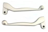 Handhebel SET SIMSON, ALU-massiv, Bremshebel + Kupplungshebel (auch für Ausführung mit Bremslichtschalter) Farbe silber matt