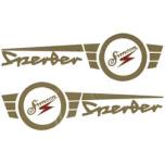 """Set Aufkleber / Schriftzug """"Simson Sperber"""" 2x Tank"""