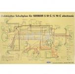 Schaltplan (40x57cm) S51C, S70C 6V electronic