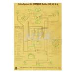 Schaltplan (40x57cm) SR50 B4 - 6V