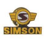 PIN SIMSON Logo gelb rot