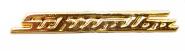 PIN SIMSON SCHWALBE Schriftzug - GOLD